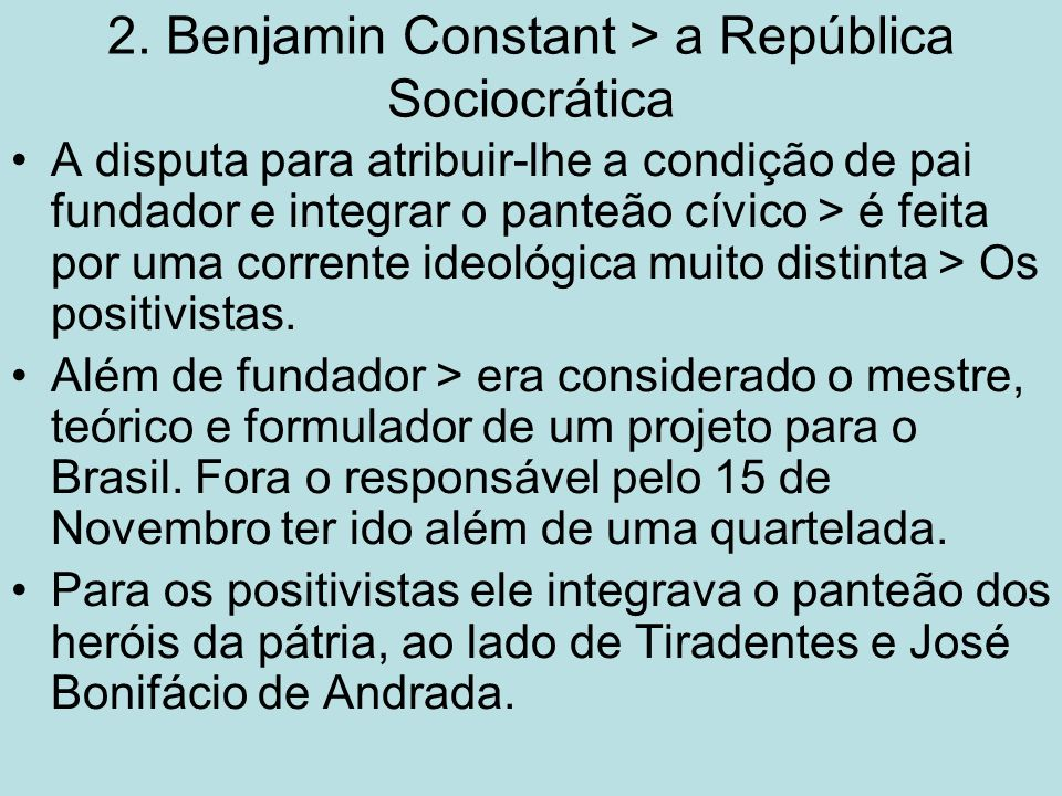 2. Benjamin Constant > a República Sociocrática