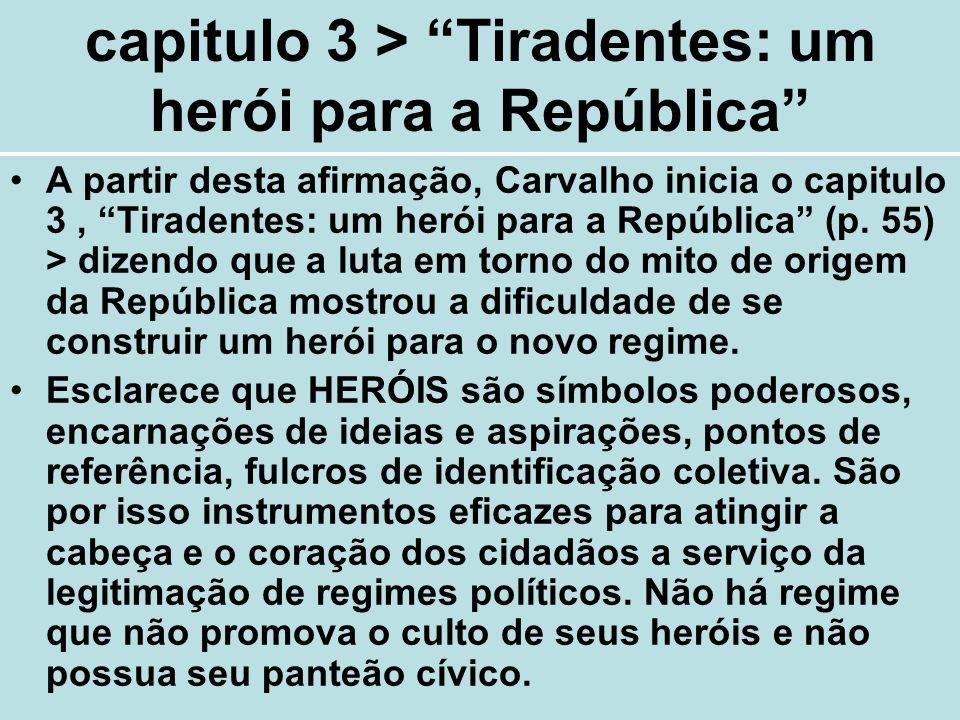 capitulo 3 > Tiradentes: um herói para a República