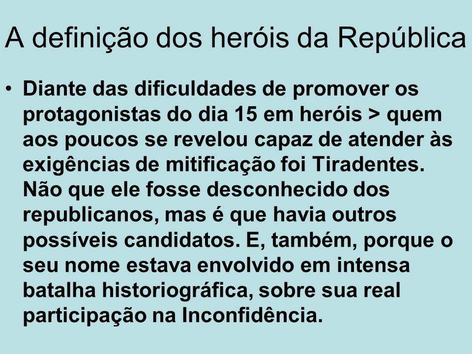 A definição dos heróis da República