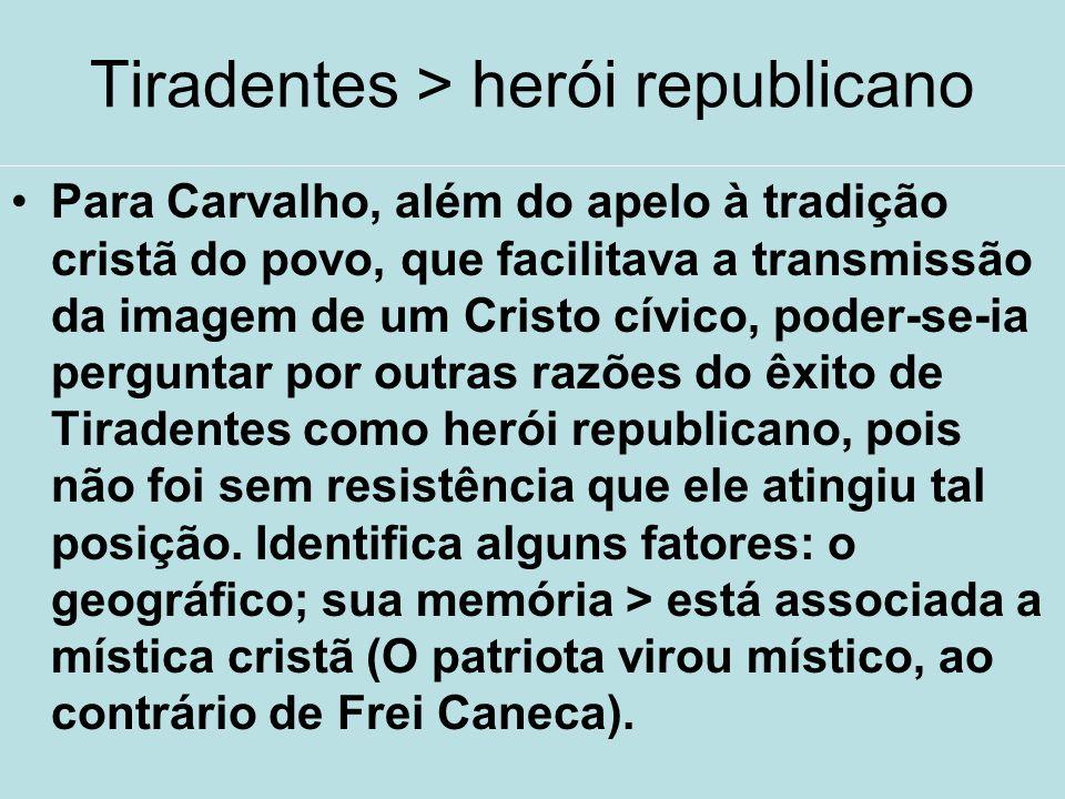 Tiradentes > herói republicano