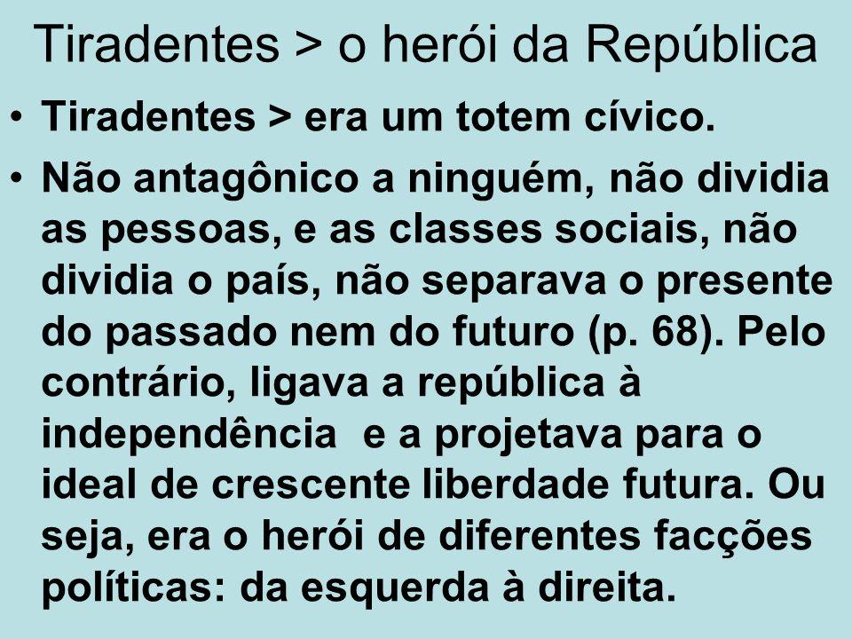 Tiradentes > o herói da República
