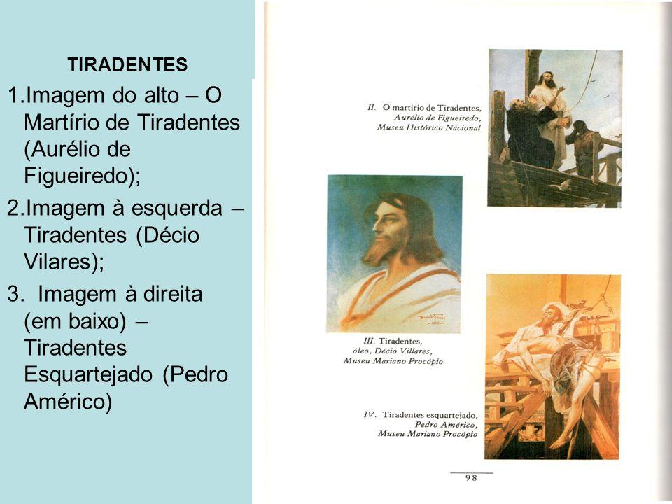 Imagem do alto – O Martírio de Tiradentes (Aurélio de Figueiredo);