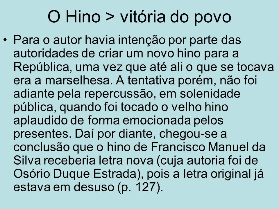 O Hino > vitória do povo