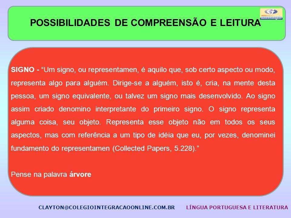 POSSIBILIDADES DE COMPREENSÃO E LEITURA