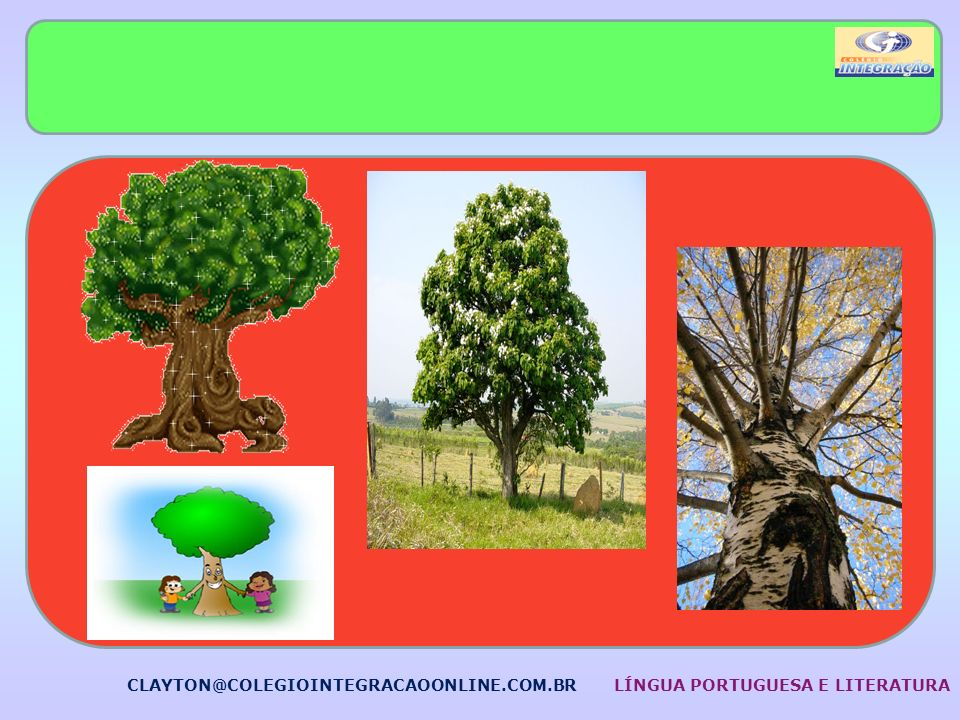 CLAYTON@COLEGIOINTEGRACAOONLINE.COM.BR LÍNGUA PORTUGUESA E LITERATURA