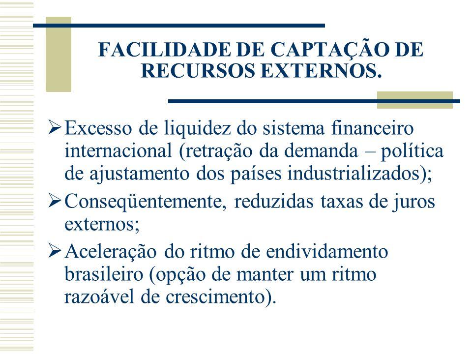 FACILIDADE DE CAPTAÇÃO DE RECURSOS EXTERNOS.