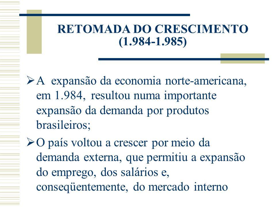 RETOMADA DO CRESCIMENTO (1.984-1.985)
