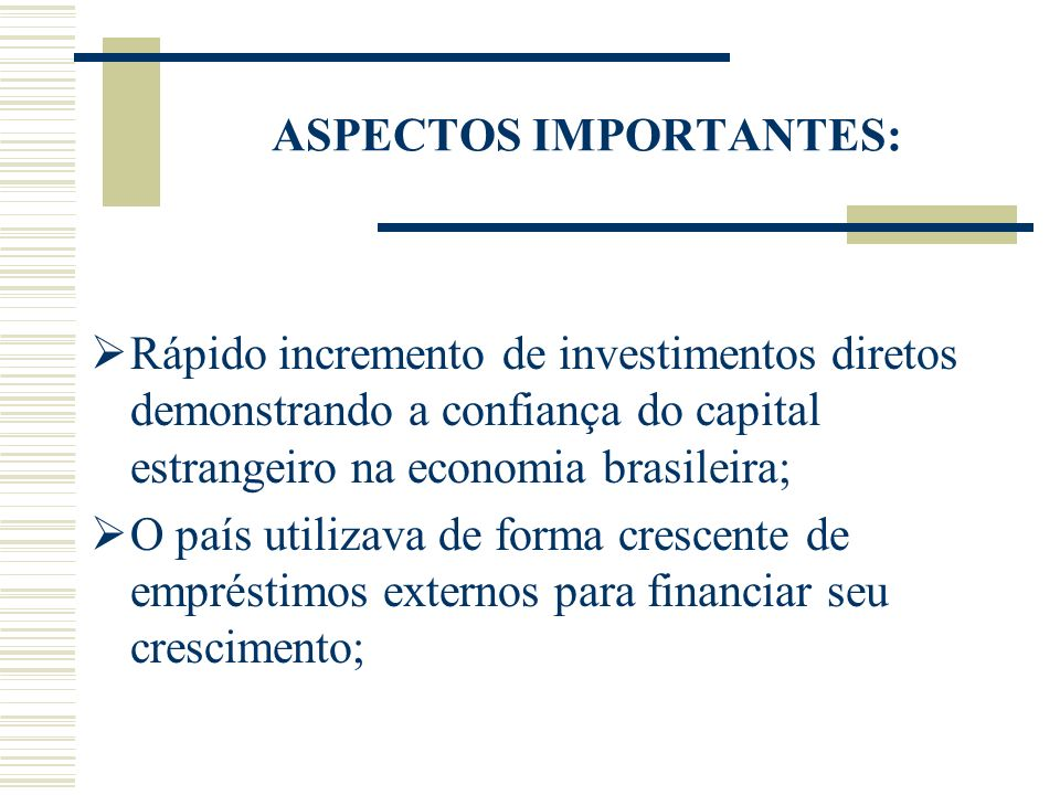 ASPECTOS IMPORTANTES: