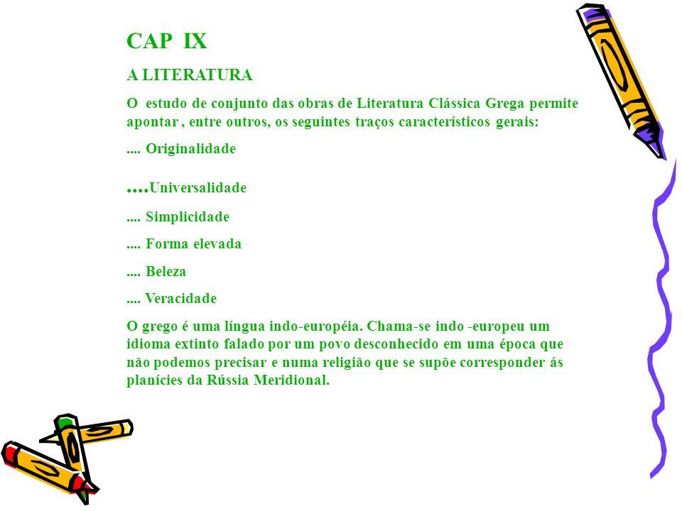 CAP IX ....Universalidade A LITERATURA