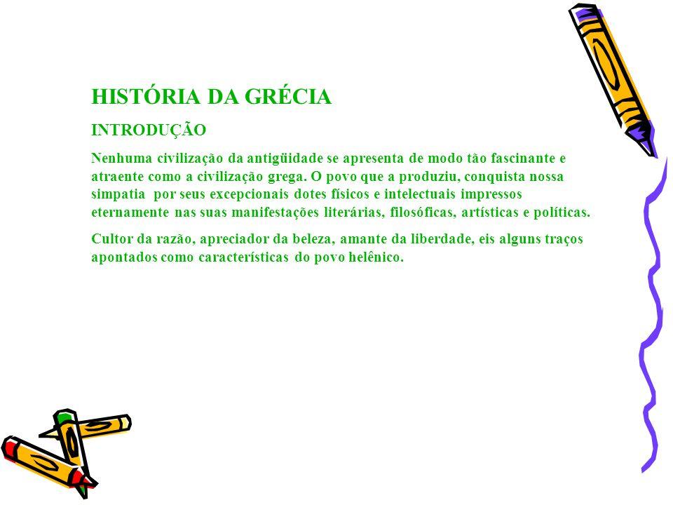 HISTÓRIA DA GRÉCIA INTRODUÇÃO