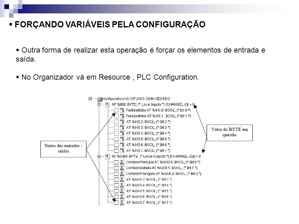 FORÇANDO VARIÁVEIS PELA CONFIGURAÇÃO