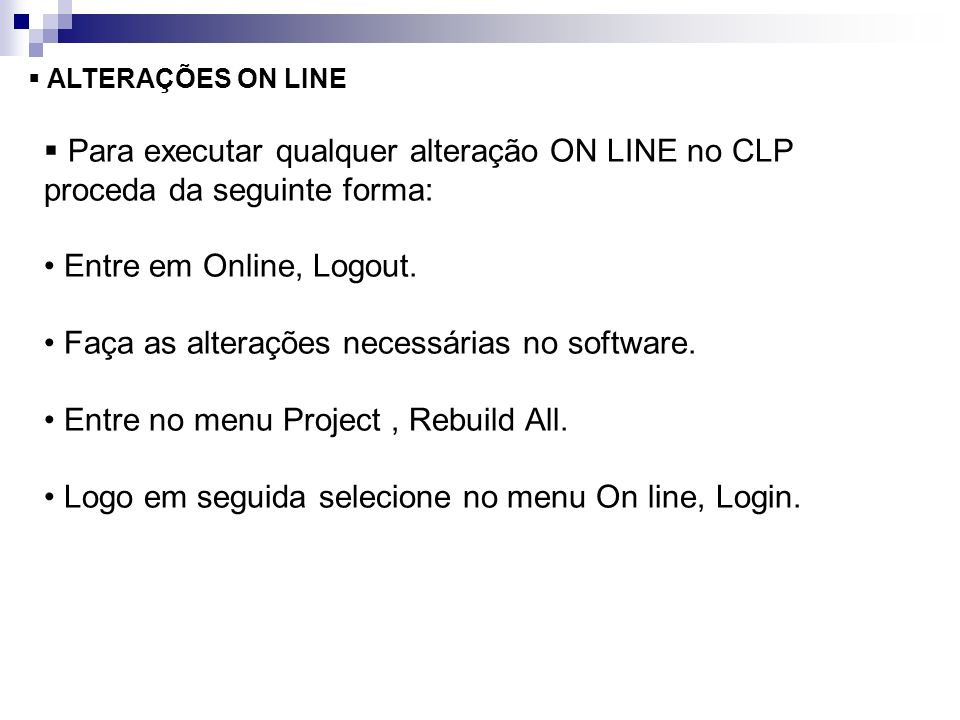 • Entre em Online, Logout.