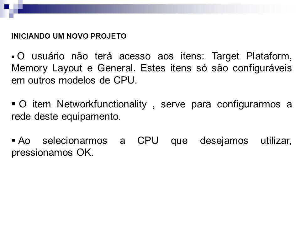 Ao selecionarmos a CPU que desejamos utilizar, pressionamos OK.