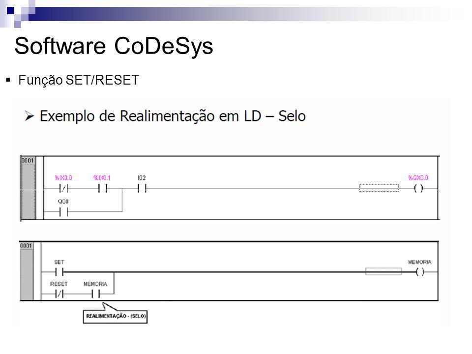Software CoDeSys Função SET/RESET