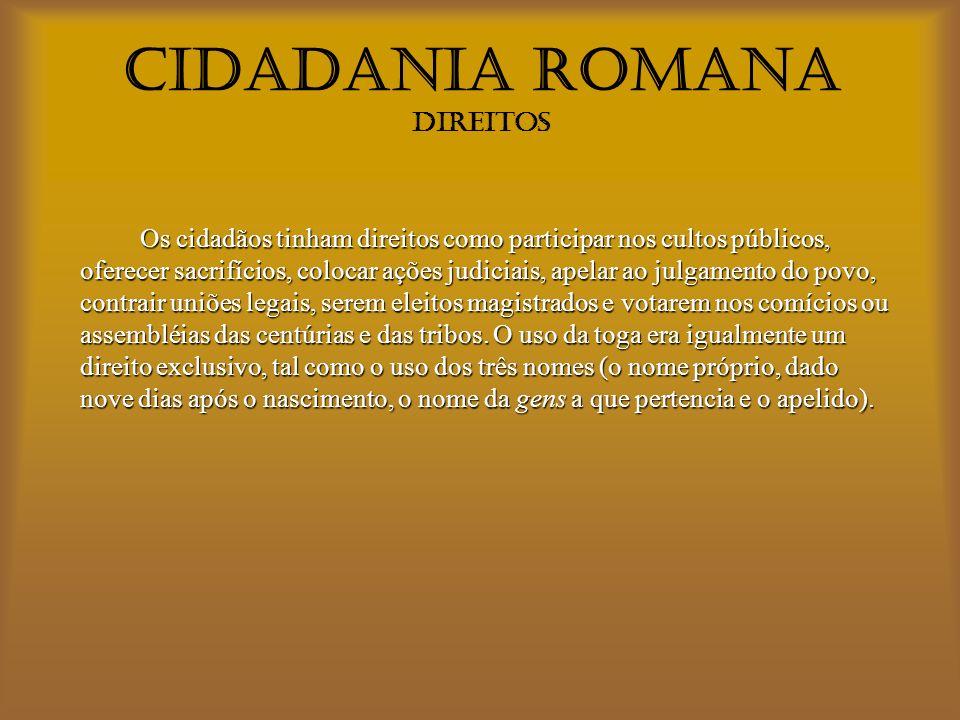 CIDADANIA ROMANA DIREITOS