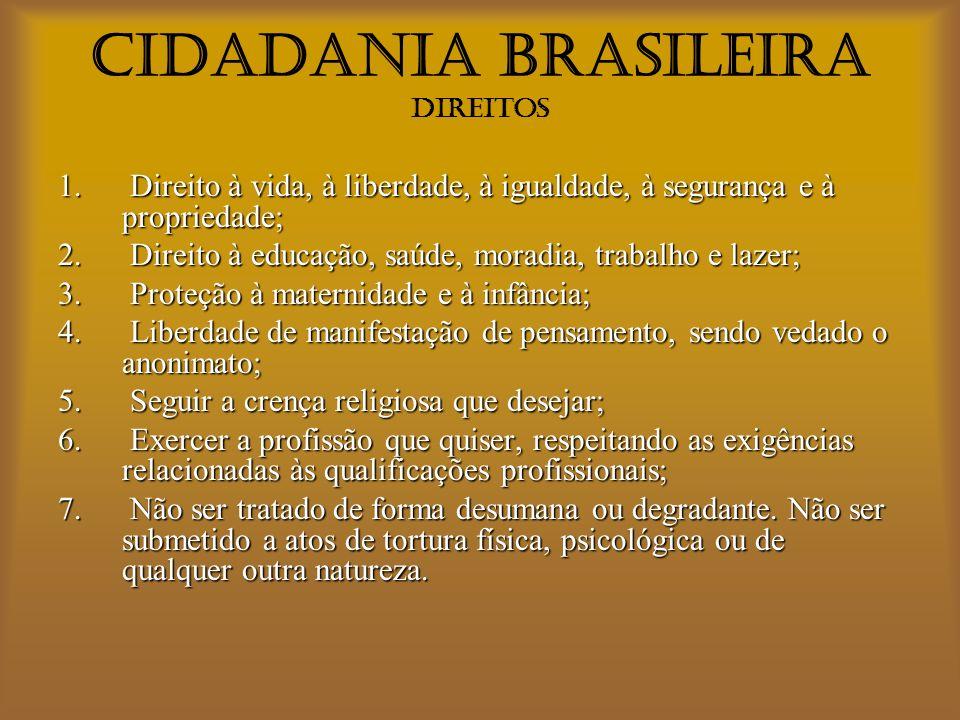 CIDADANIA BRASILEIRA Direitos