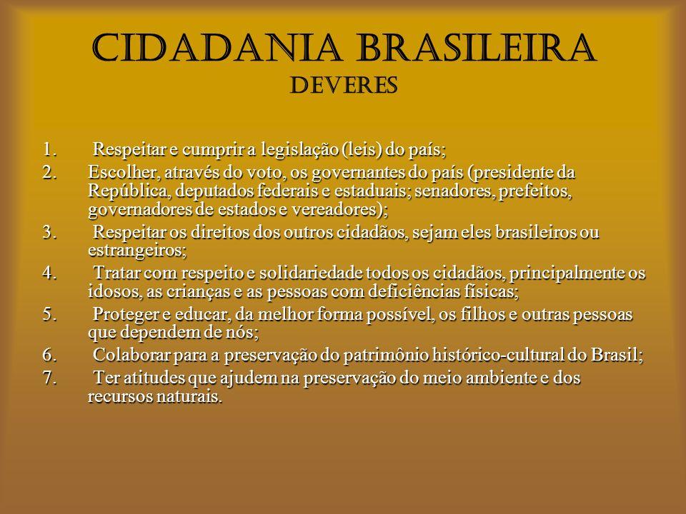 CIDADANIA BRASILEIRA DEVERES