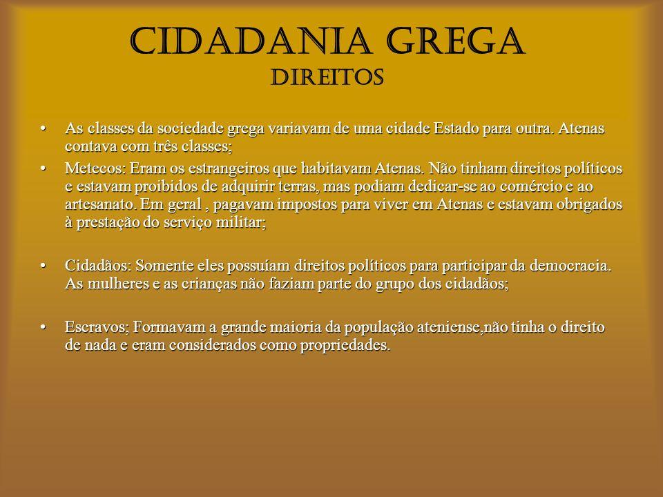 CIDADANIA GREGA DIREITOS