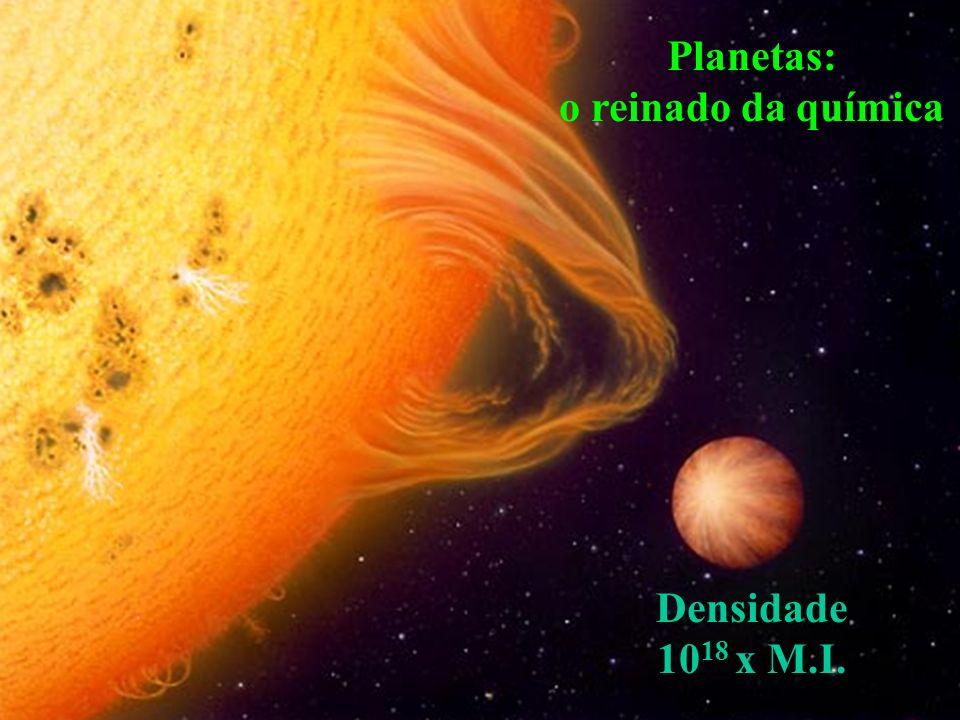 Planetas: o reinado da química