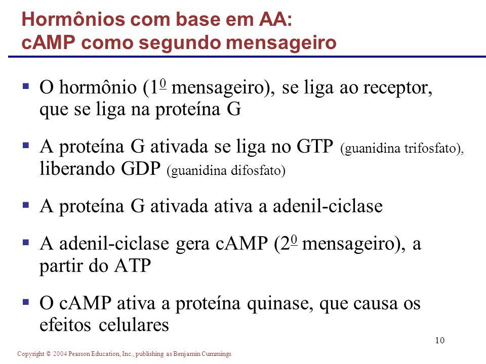 Hormônios com base em AA: cAMP como segundo mensageiro