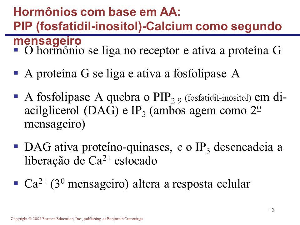 O hormônio se liga no receptor e ativa a proteína G