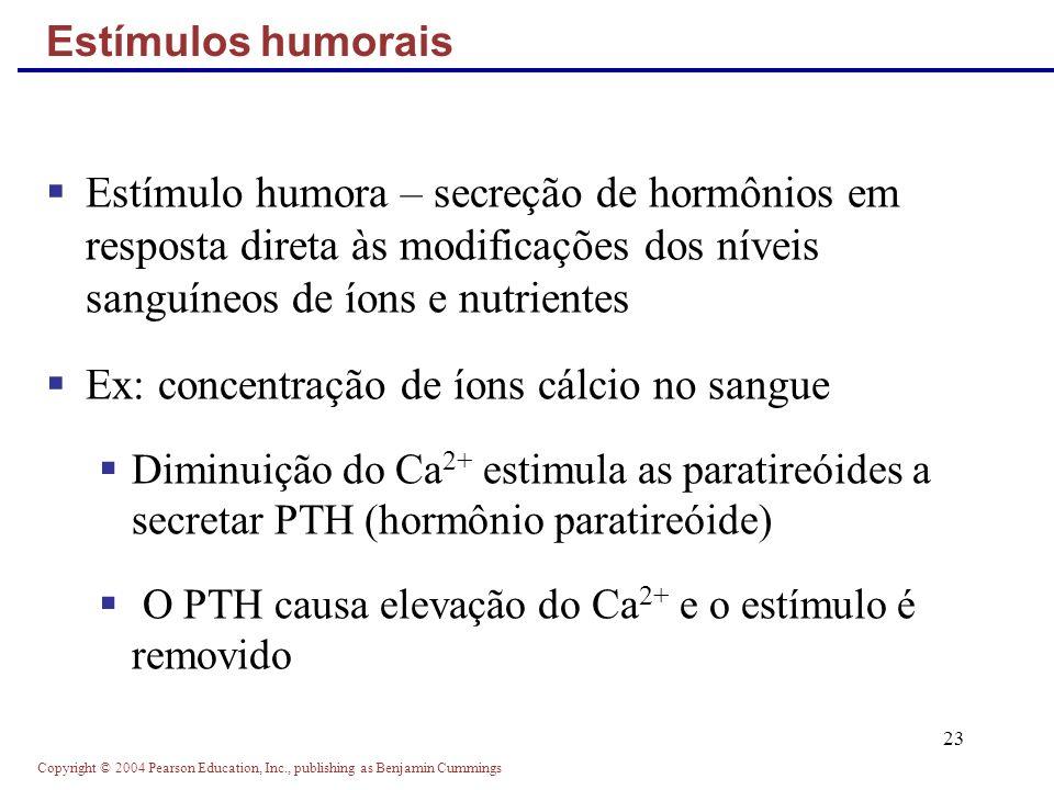 Ex: concentração de íons cálcio no sangue