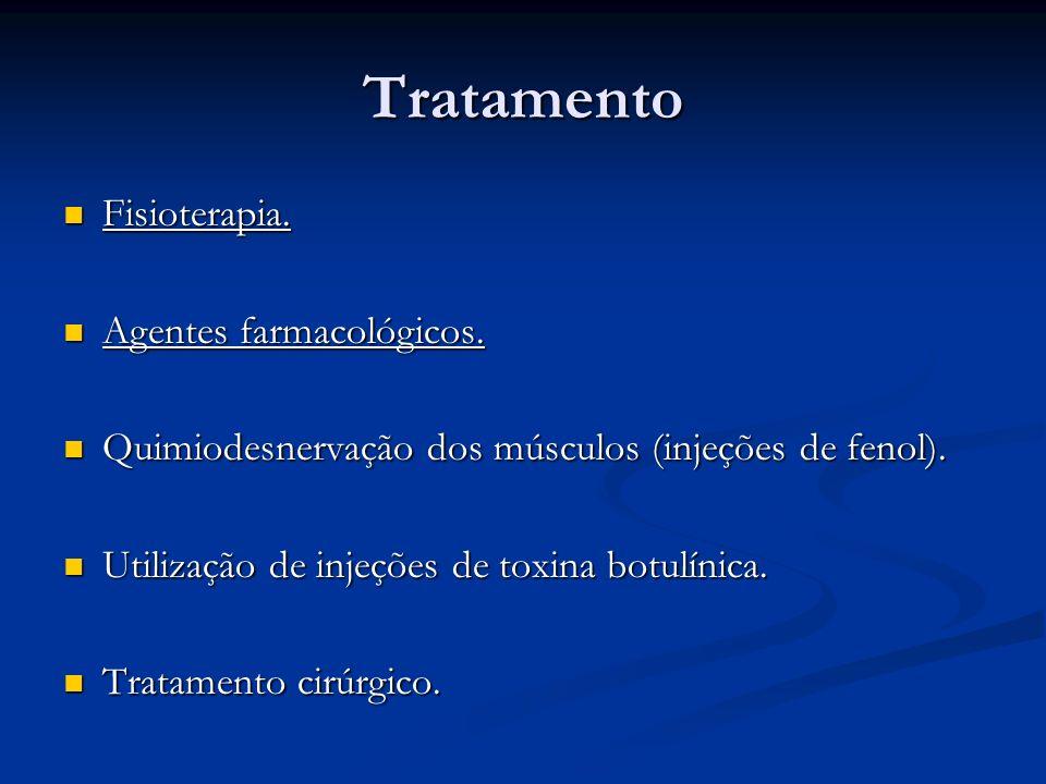 Tratamento Fisioterapia. Agentes farmacológicos.