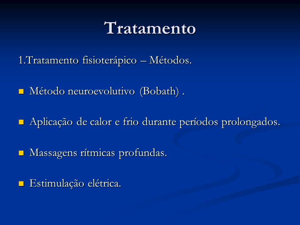Tratamento 1.Tratamento fisioterápico – Métodos.