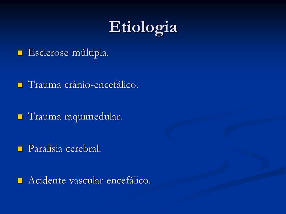 Etiologia Esclerose múltipla. Trauma crânio-encefálico.