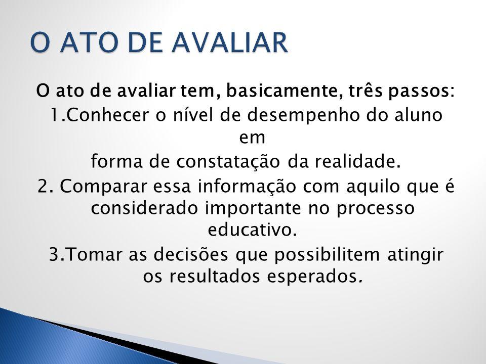 O ATO DE AVALIAR