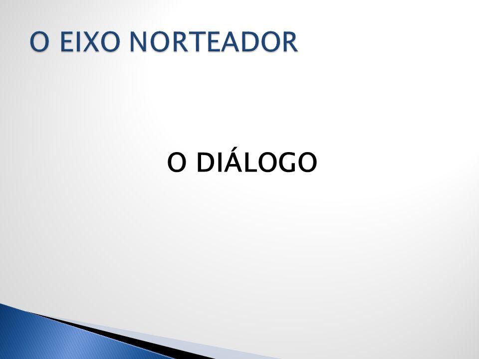 O EIXO NORTEADOR O DIÁLOGO