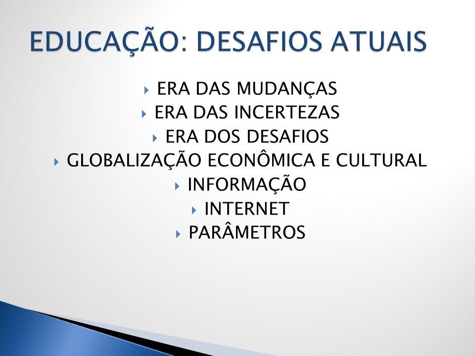 EDUCAÇÃO: DESAFIOS ATUAIS