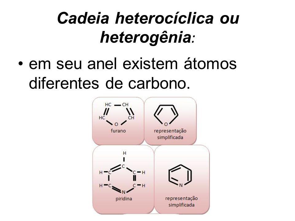 Cadeia heterocíclica ou heterogênia: