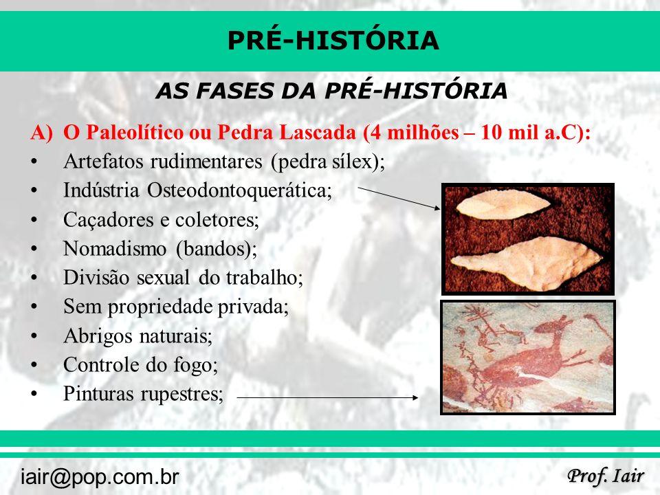 AS FASES DA PRÉ-HISTÓRIA