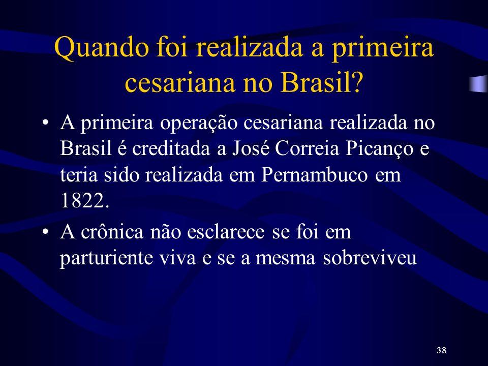 Quando foi realizada a primeira cesariana no Brasil