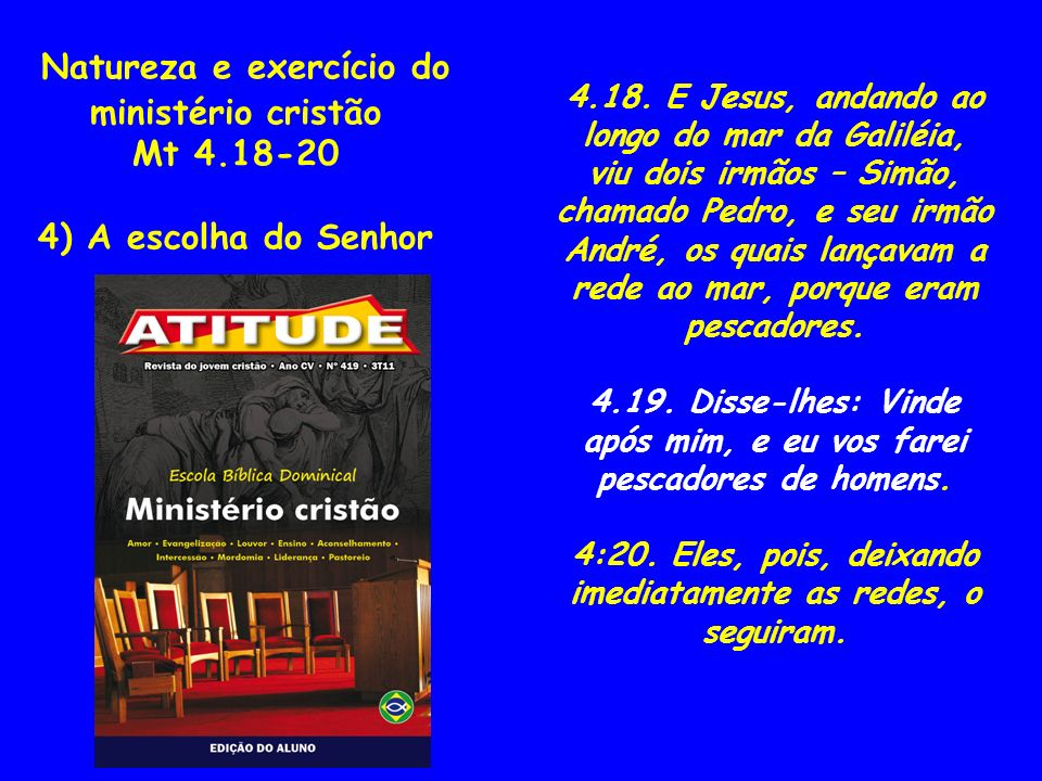 Natureza e exercício do ministério cristão