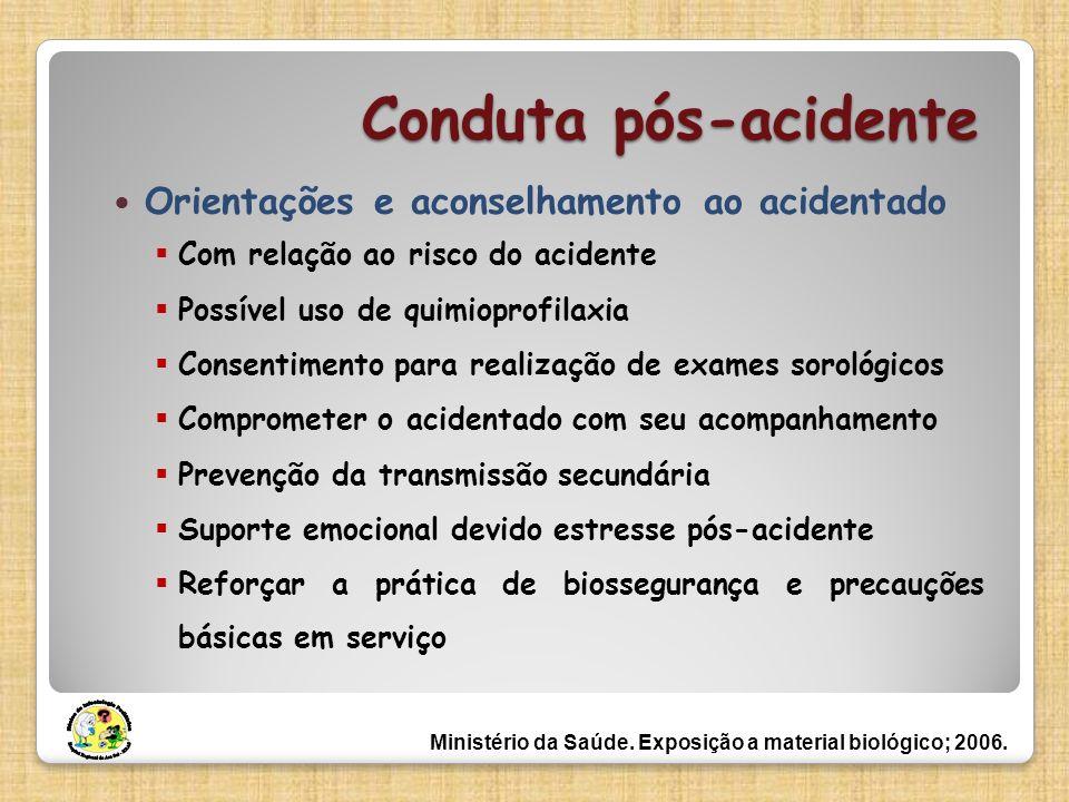 Conduta pós-acidente Orientações e aconselhamento ao acidentado