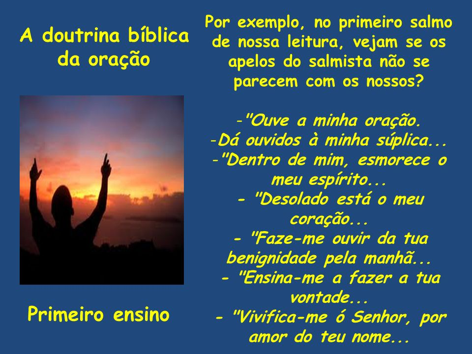 A doutrina bíblica da oração Primeiro ensino