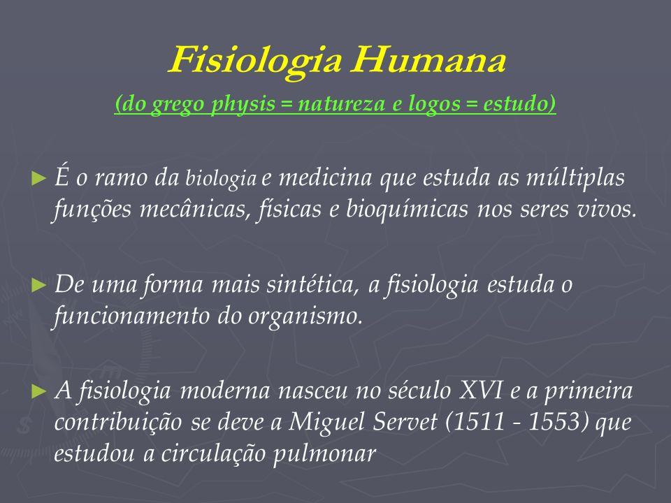 (do grego physis = natureza e logos = estudo)