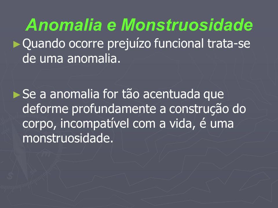 Anomalia e Monstruosidade