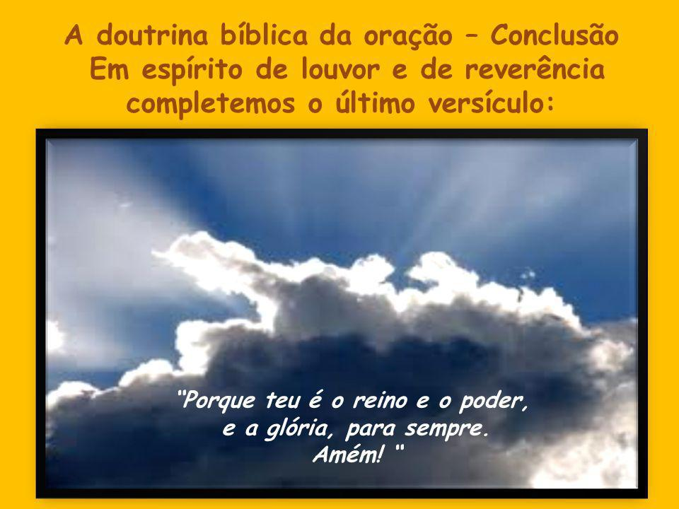 A doutrina bíblica da oração – Conclusão