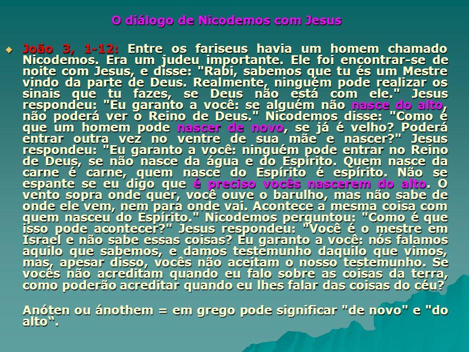 O diálogo de Nicodemos com Jesus