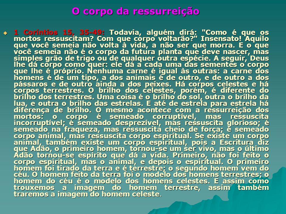 O corpo da ressurreição