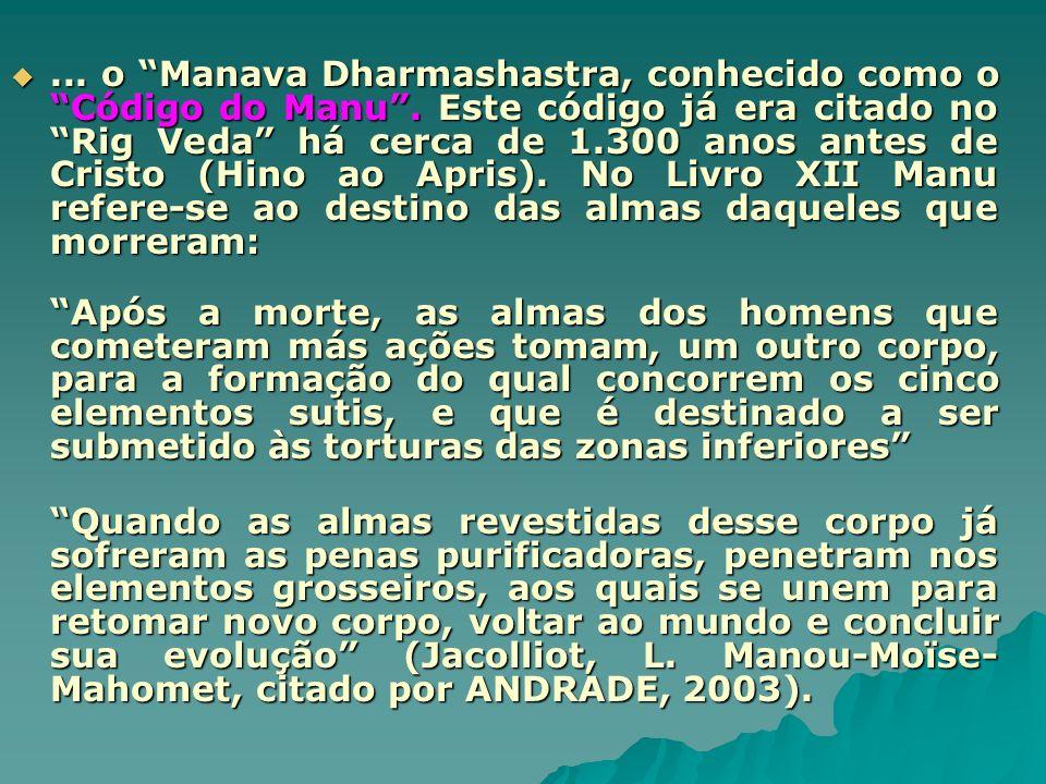 o Manava Dharmashastra, conhecido como o Código do Manu