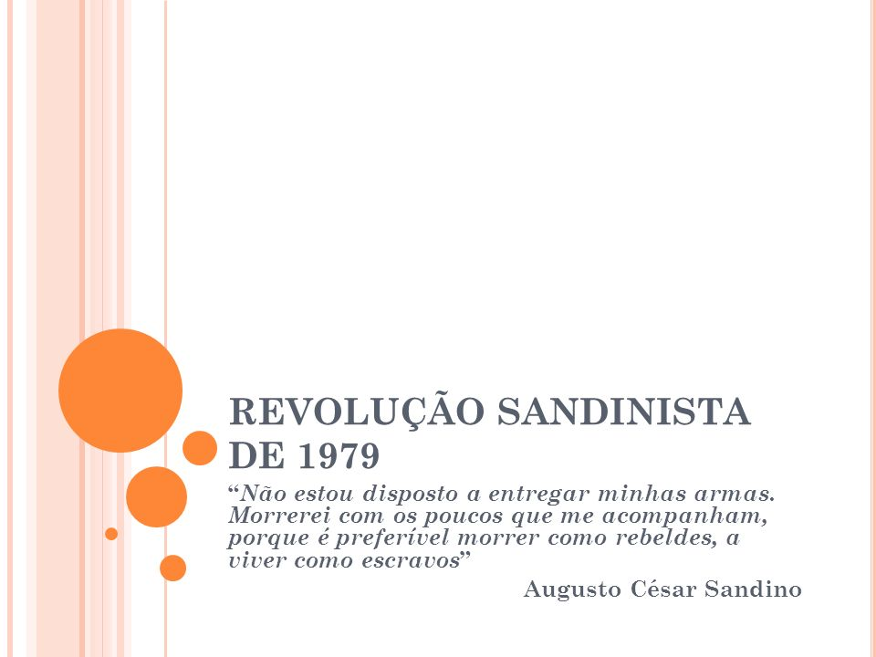 REVOLUÇÃO SANDINISTA DE 1979