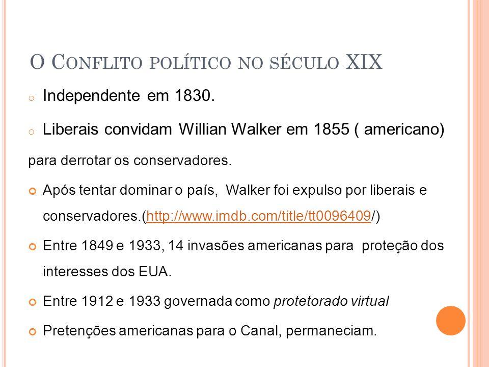 O Conflito político no século XIX