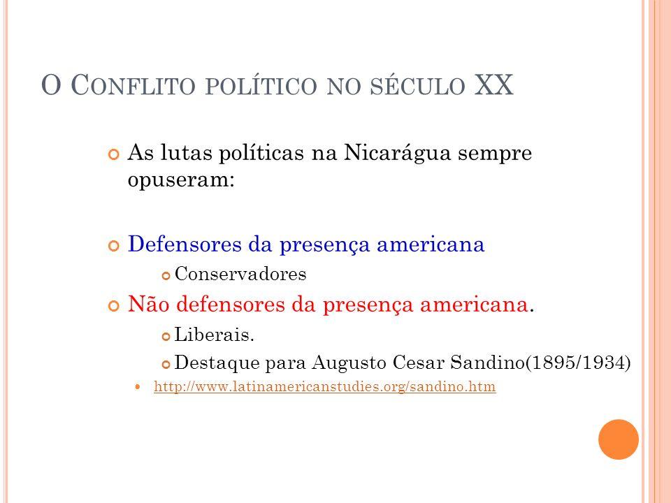 O Conflito político no século XX