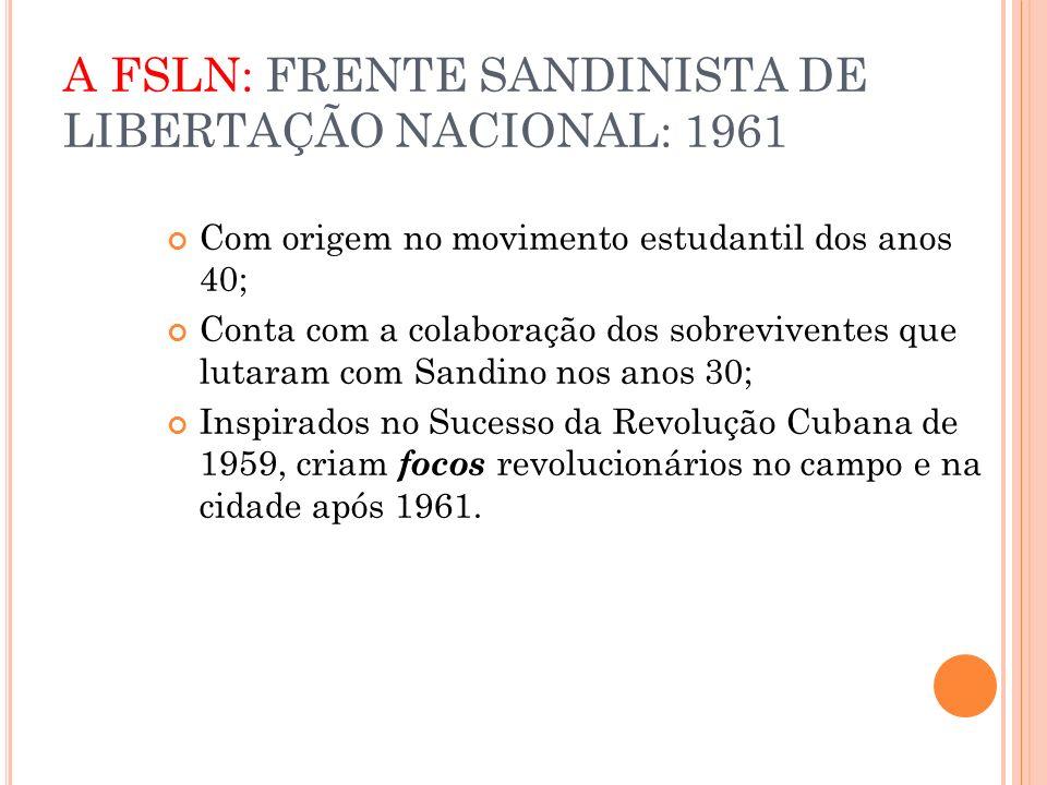A FSLN: FRENTE SANDINISTA DE LIBERTAÇÃO NACIONAL: 1961