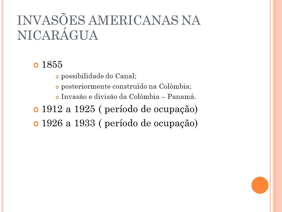 INVASÕES AMERICANAS NA NICARÁGUA