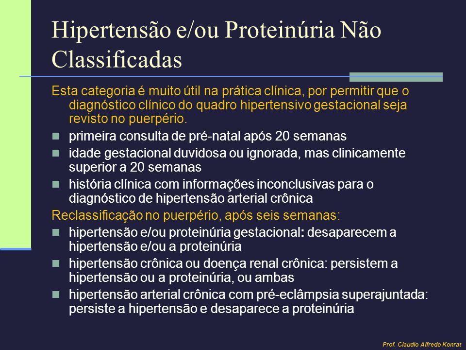Hipertensão e/ou Proteinúria Não Classificadas